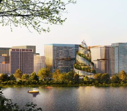 Amazon reveals its HQ2 and double helix-inspired construction in Arlington, Virginia