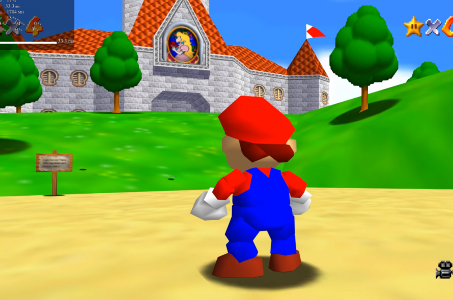 The most recent Super Mario 64 speedrun trend provides Mario a gun