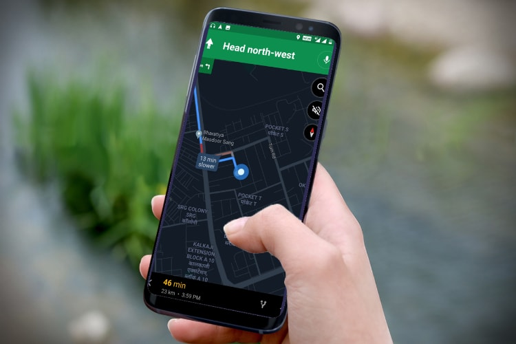 Step by step guides to turn on Google Maps dark mode