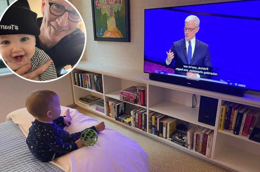 Anderson Cooper's son Wyatt watches him on TV for the first time