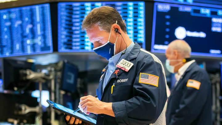US stocks trading somewhat high-rise hours before Wednesday's initial chime